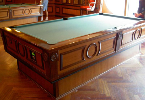 pool table on ship
