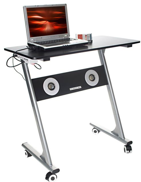 coolbusinessideas com computer desk with built in speakers
