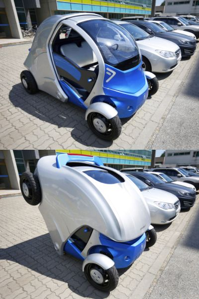 Space Saving Electric Car
