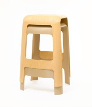 Sleek Stool Made From Single Sheet of Plywood