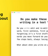 Rough Draft Writing App