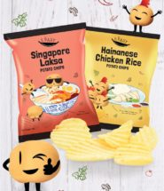 Chicken Rice and Laksa Flavoured Potato Chips