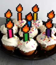 Reusable Pixelated Flame Candles