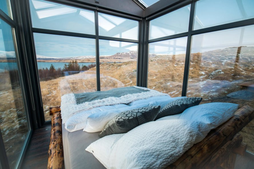 Want To See The Northern Lights Without Dealing With The Dark And The Cold?  With This Luxury Glass Cabin In Iceland, You Can Now Do Just That.